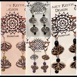 Casey Keith Design Jewelry - Lotus flower Earrings